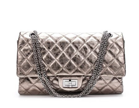 Chanel Pewter Aged Calfskin Reissue Double Flap Bag