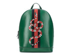 Gucci Green Leather Kingsnake Print Backpack