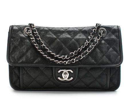Chanel Black Caviar French Riviera Flap Bag