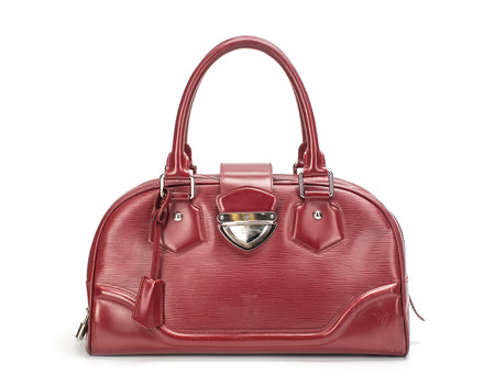 Louis Vuitton Red Epi Montaigne GM Bag