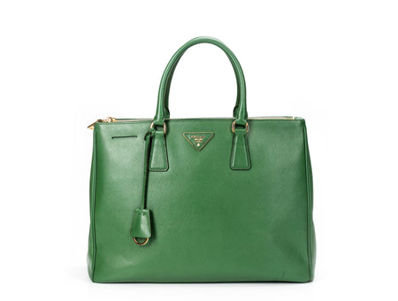 Prada Kelly Green Saffiano Executive Tote Bag