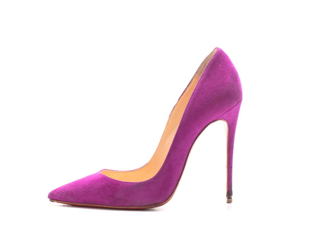 Christian Louboutin So Kate 120 Bougainvillier Suede Stiletto Sz 36.5