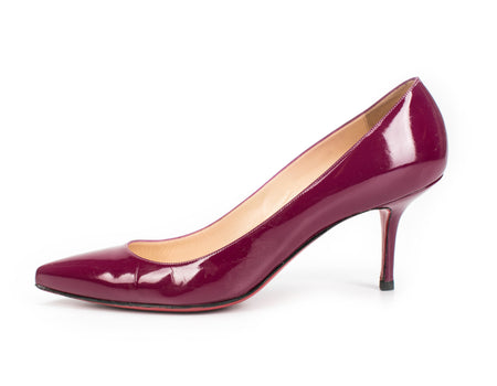 Christian Louboutin Pigelle Follies 55mm Magenta Patent Leather Pumps Sz 41