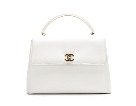 Chanel White Caviar Vintage Kelly Bag