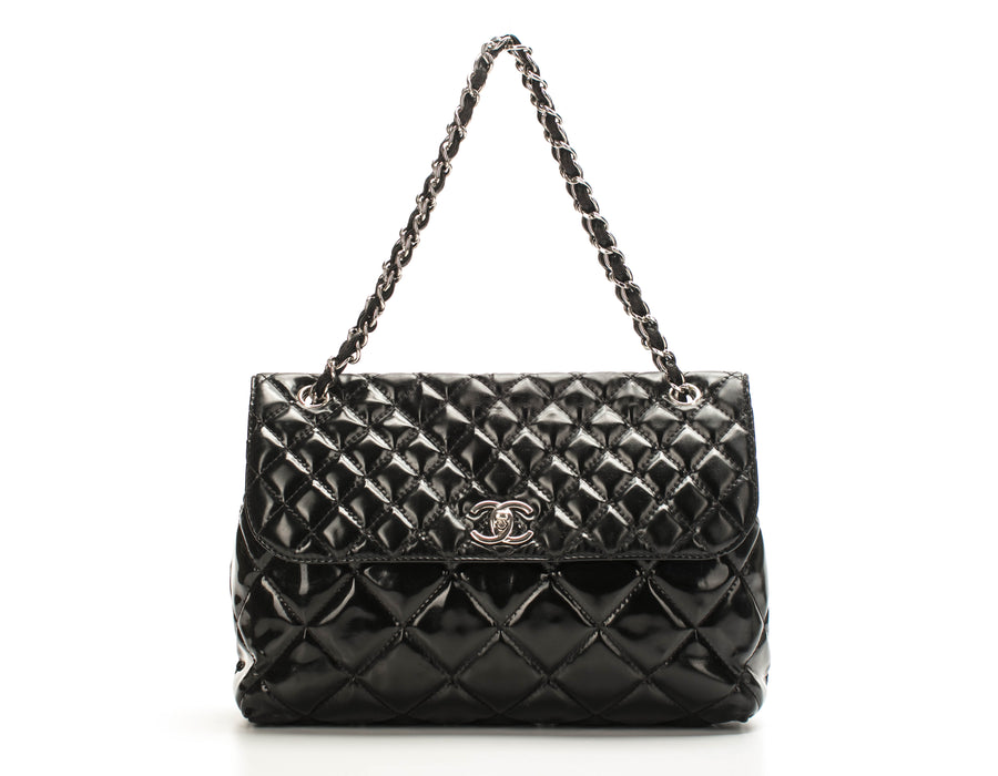 Chanel Black Vinyl In the Business Flap Bag