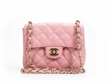 Chanel Pink Caviar Mini Flap Bag