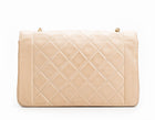 Chanel Beige Lambskin Medium Diana Flap Bag