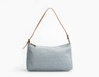 Fendi Light Blue Small Zucchino Pochette Bag