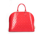 Louis Vuitton Rouge Grenadine Vernis Alma GM Bag