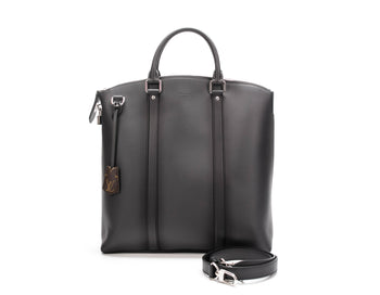 Louis Vuitton Graphite Cuir Ombre Mens Lockit Bandouliere Bag