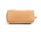 Gucci Tan Leather Bamboo Bar Zip Tote Bag