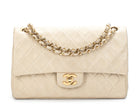 Chanel Ivory Lambskin Small Double Flap Bag
