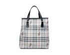 Burberry Grey Haymarket Check Coated Canvas Tall Tote Bag