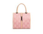 Gucci Pink Monogram Canvas Top Handle Bag