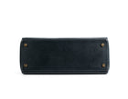 Hermes Navy Blue Courchevel Kelly 28cm Bag with Strap