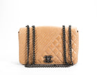Chanel Tan Calfskin Coco Boy Flap Bag