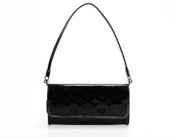 Louis Vuitton Noir Magnetique Vernis Rossmore MM Bag