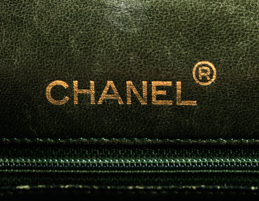 Chanel Olive Lambskin Mini Flap Bag GHW