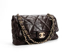 Chanel Brown Lambskin Soft Coco Flap Bag