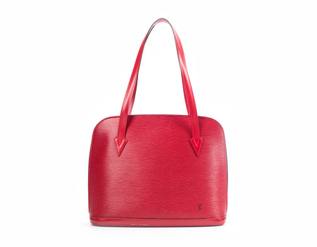 Louis Vuitton Large Red Epi Leather Lussac Tote Bag