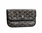Goyard Black Monogram Coated Linen Pouch