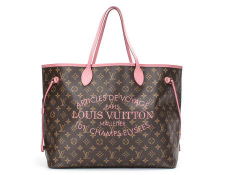 Louis Vuitton Limited Edition Monogram Canvas Rose Velors Ikat Neverfull GM Bag