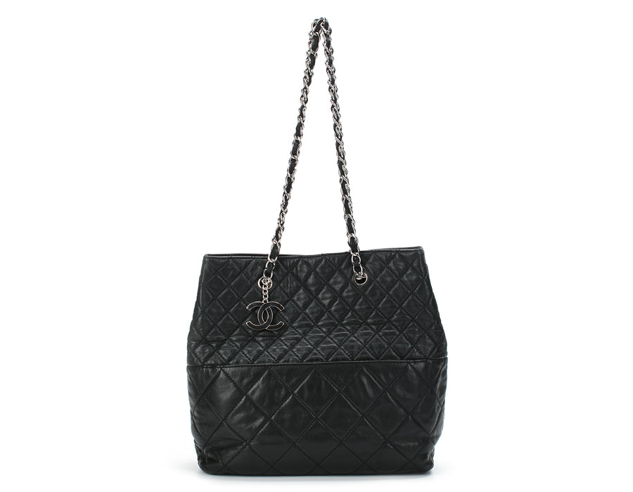 Chanel Black Calfskin In The Business N/S Tote Bag