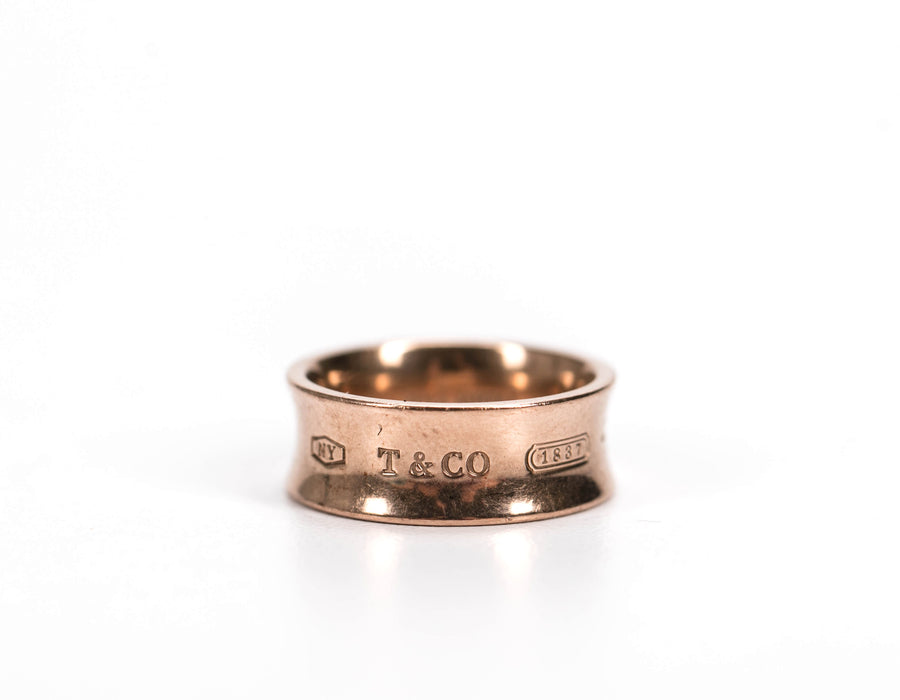 Tiffany and Co Gold 1837 Band Size 5.5