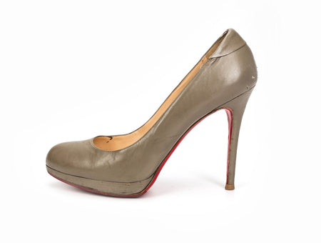 Christian Louboutin New Simple 120mm Grey Heels Sz 40.5