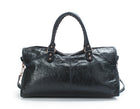 Balenciaga Navy Agneau City Bag
