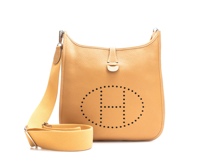 Hermes Moutarde Clemence Evelyne III PM Bag