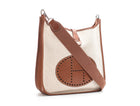 Hermes Toile and Brown Barenia Evelyne I PM Bag
