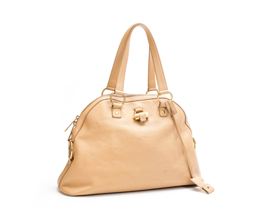 Yves Saint Laurent Beige Leather Muse Bag