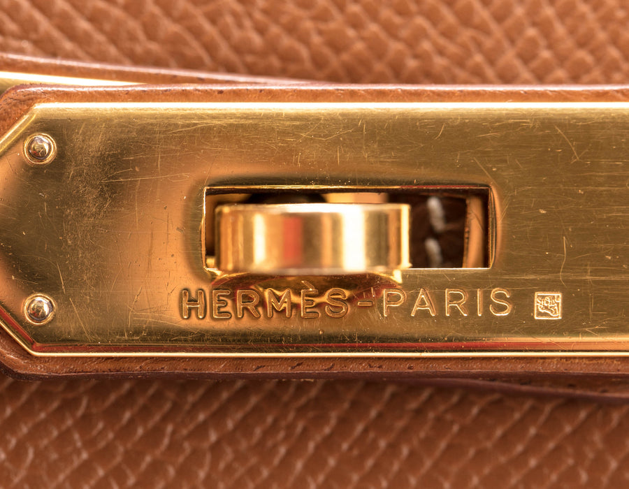Hermes Gold Courchevel Birkin 30cm Bag