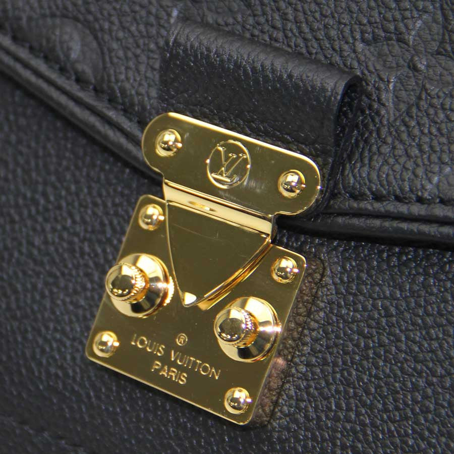 Louis Vuitton Black Monogram Empreinte Leather Saint-Germain MM Bag