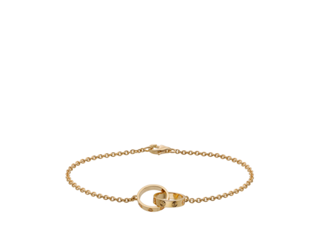 Cartier Rose Gold Mini Infinity Love Rings Bracelet