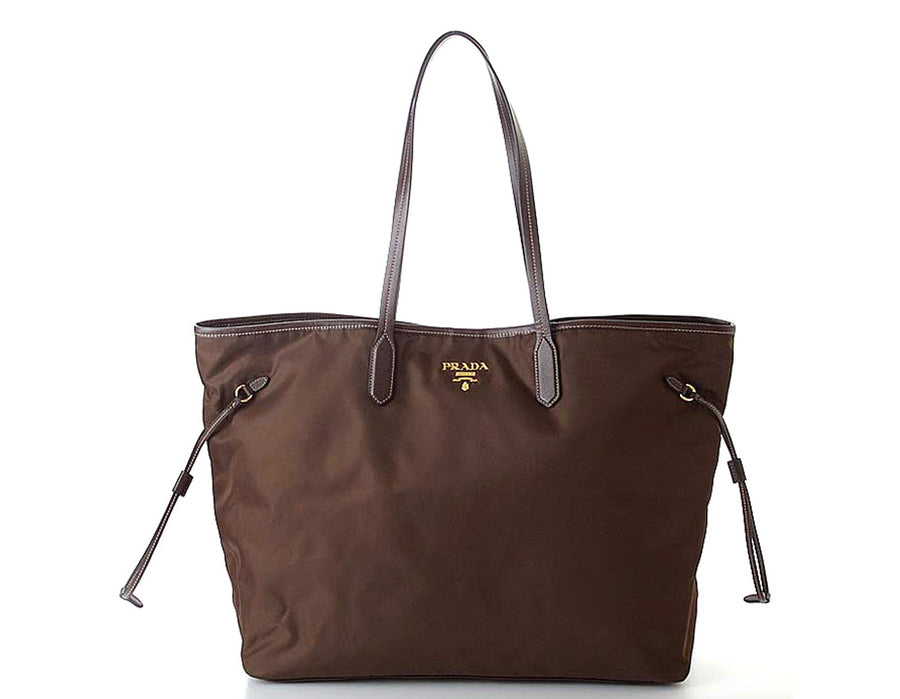 Prada Brown Tessuto Nylon Tote Bag