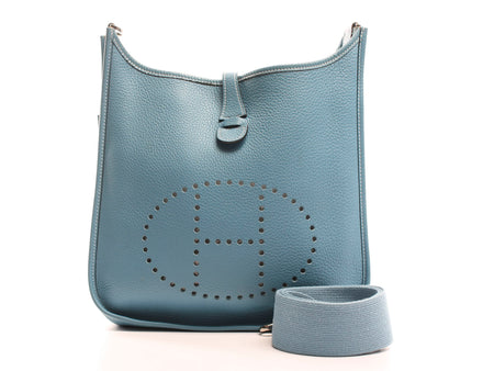 Hermes Blue Jean Evelyne III PM Crossbody Bag