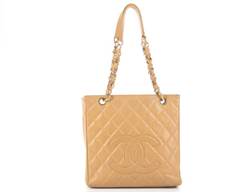 Chanel Beige Caviar Petit Shopping Tote PST Bag