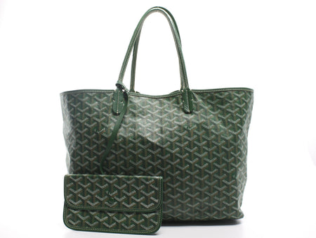 Goyard Green Monogram Coated Linen Saint Louis PM Bag