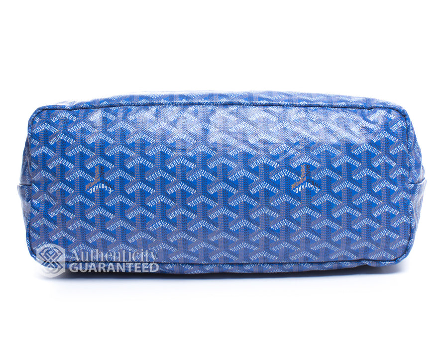 Goyard Blue Monogram Coated Linen Saint Louis PM Bag