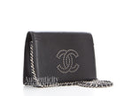 Chanel Black Lambskin Studded CC WOC Wallet on Chain