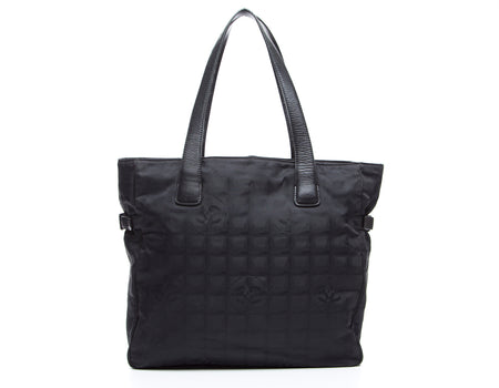 Chanel Black Travel Ligne Large Tote Bag