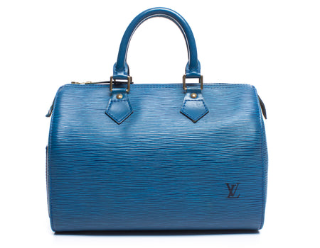 Louis Vuitton Toldeo Blue Epi Leather Speedy 30 Bag