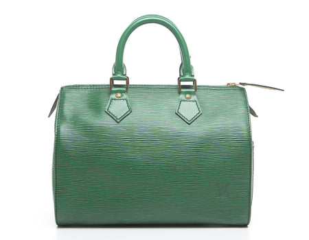 Louis Vuitton Borneo Green Epi Leather Speedy 25 Bag