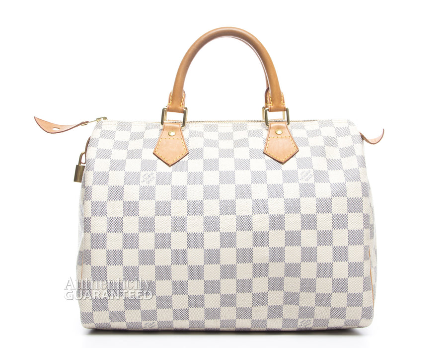 Louis Vuitton Damier Azur Speedy 30 Bag