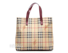 Burberry Haymarket Check Coated Canvas Tote Bag