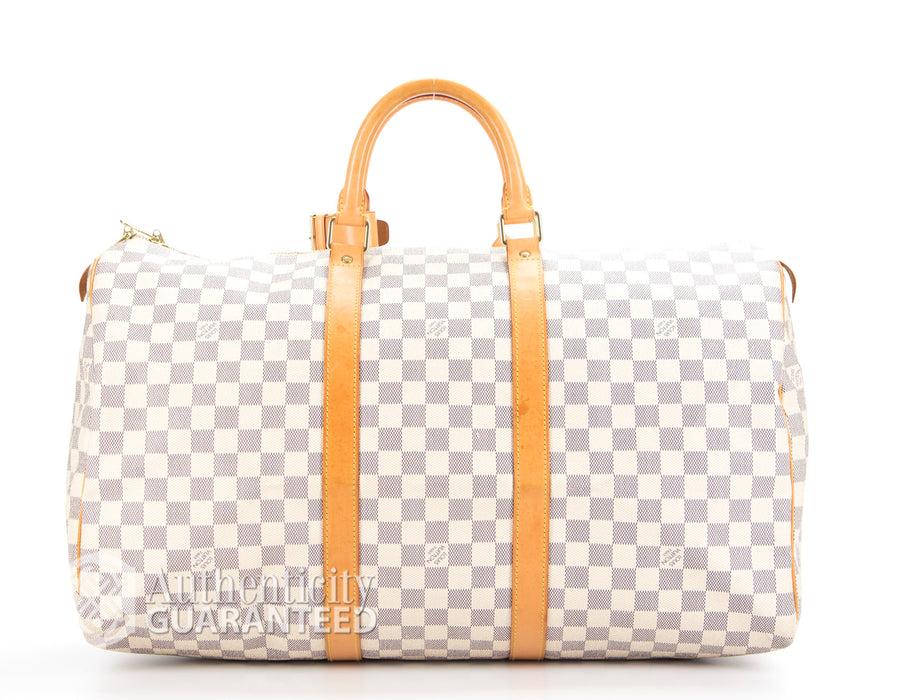 Louis Vuitton Damier Azur Keepall 50 Bag