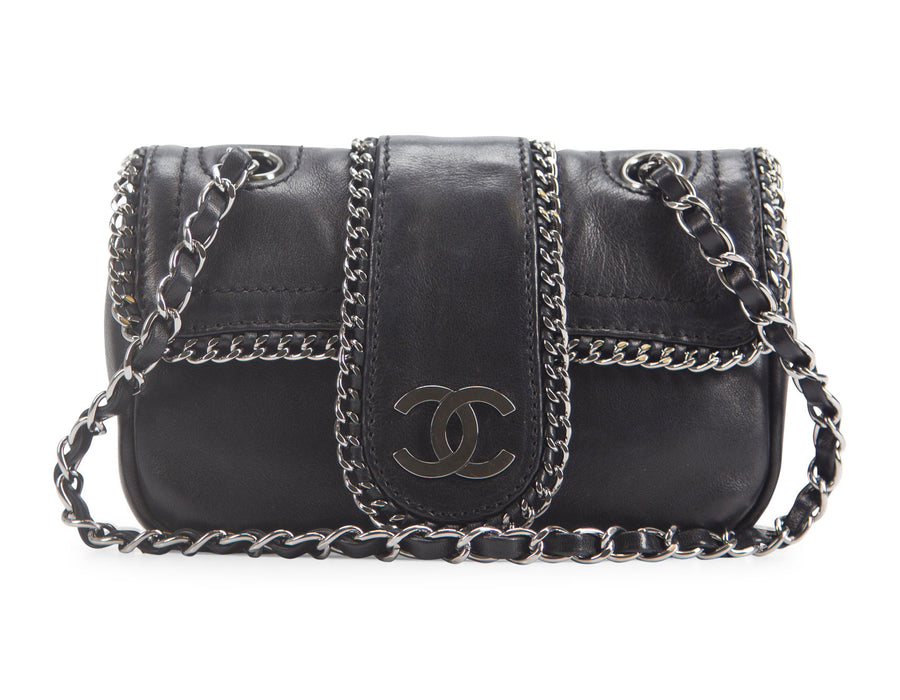 Chanel Black Lambskin Madison Mini Flap Bag
