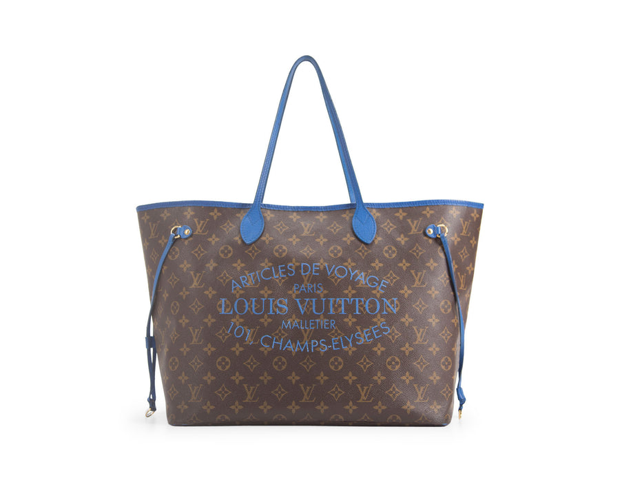 Louis Vuitton Limited Edition Monogram Canvas Blue Ikat Neverfull GM Bag